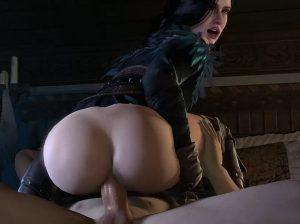 slutty yennefer riding - the witcher 3d porn