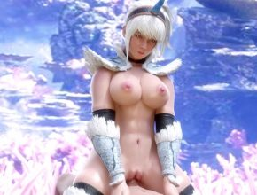 Monster Hunter 3D Hentai  - Kirin Shaved and Wet pussy