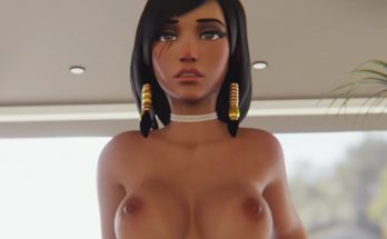3D Hentai overwatch with pharah riding a thick cock