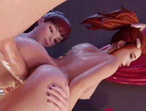 Brigitte Lindholm wet pussy from anal - Overwatch rule34