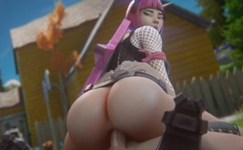 fortnite hentai - power chord riding and showing her round ass