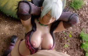 Monster hunter sexy girl in anjanath armor