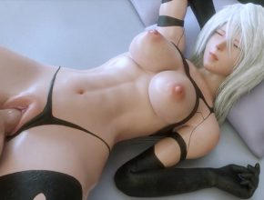 Android A2 getting her juicy pussy fucked - Nier Automata 3D porn