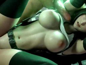 Threesome with Tifa - Final Fantasy 3D hentai