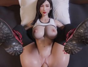 Tifa Lockhart shaved pussy POV creampie - Final Fantasy 3D hentai