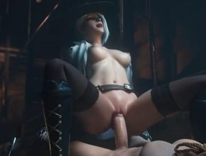 Overwatch 3D hentai - Ashe going for a creampie