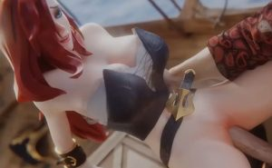 Miss fortune 3D hentai video