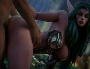 Tyrande Whisperwind Doggystyle - World of Warcraft 3D hentai animation